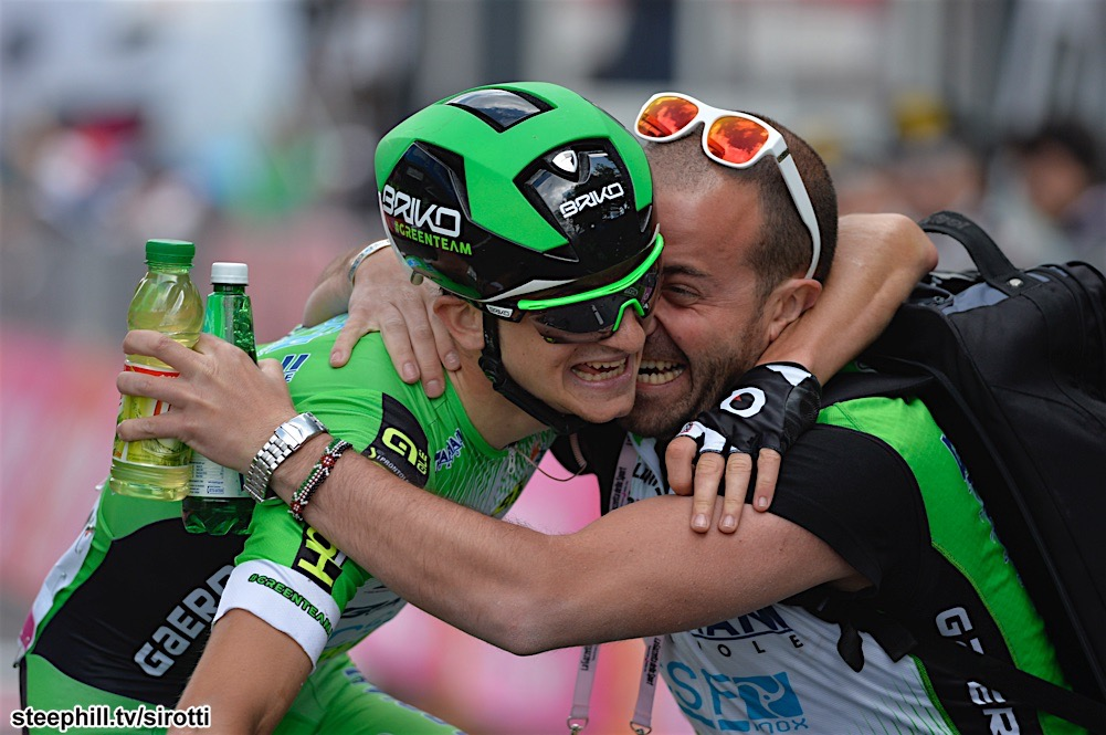 17-05-2016 Giro D'italia; Tappa 10 Campi Bisenzio - Sestola; 2016, Bardiani Csf; Ciccone, Giulio; Sestola;