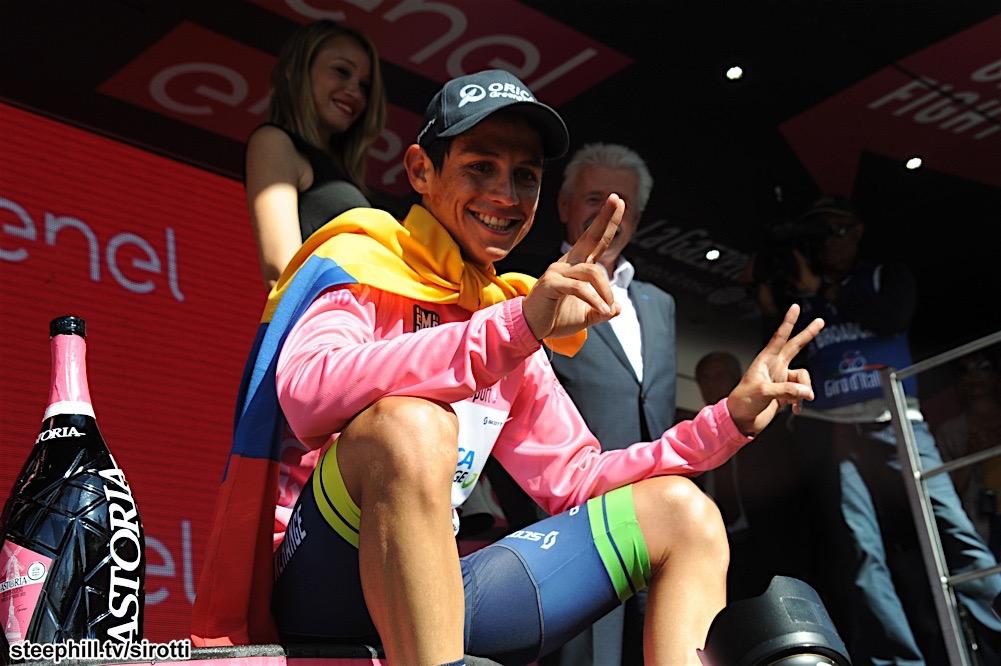 27-05-2016 Giro D'italia; Tappa 19 Pinerolo - Risoul; 2016, Orica Greenedge; Chaves Rubio, Johan Estaban; Risoul;