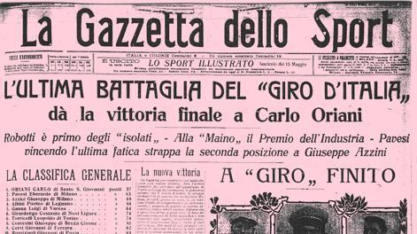 La copertina della gazzetta del 23 maggio 1913