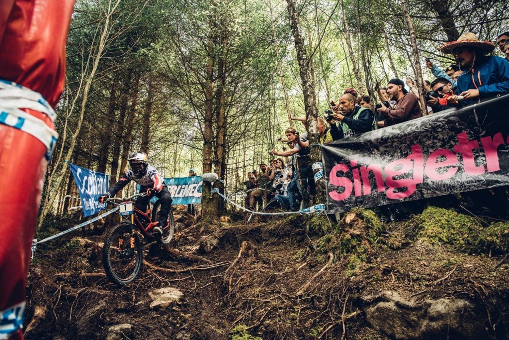 Aaron Gwin é vice campeão em Fort William © Bartek Woliński/Red Bull Content Pool