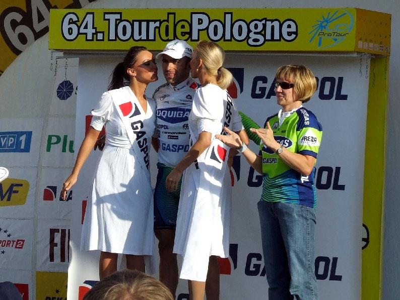 Murilo na premiação da quinta etapa do Tour da Polônia, 2007.