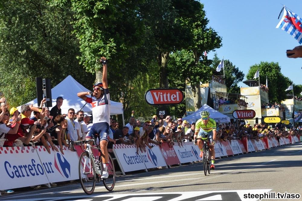 Tour de France 2016 - 17/07/2016 - Etape 15 - Bourg-en-Bresse/ Culoz (160 km) - Jarlinson PANTANO (IAM CYCLING) s'impose a Culoz