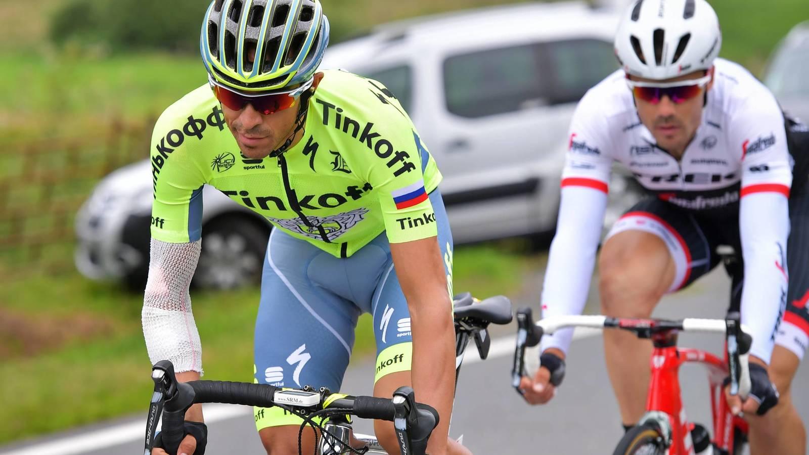 Contador durante sua última participação no Tour de France 2016.