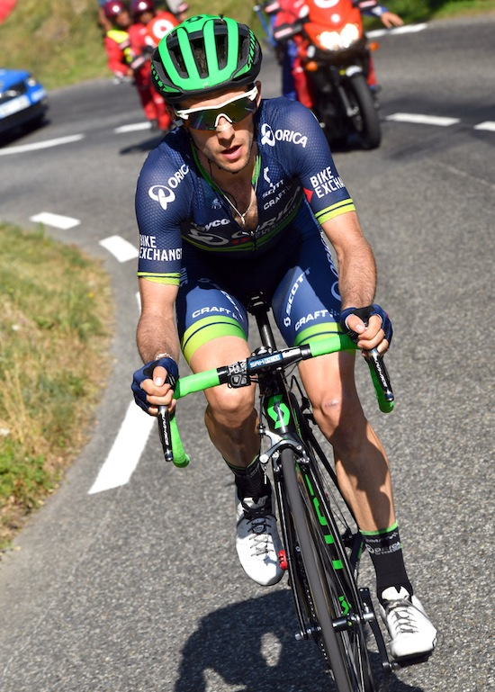 Simon Yates on stage 14 of the 2016 Vuelta a España