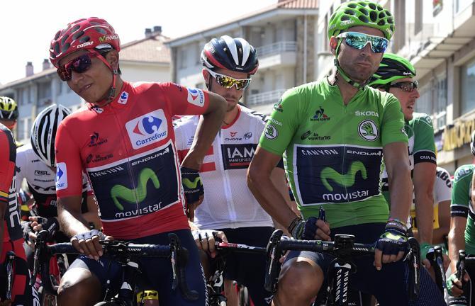 """Nairo Quintana e Alejandro """"Bala"""" Valverde (Movistar)"""