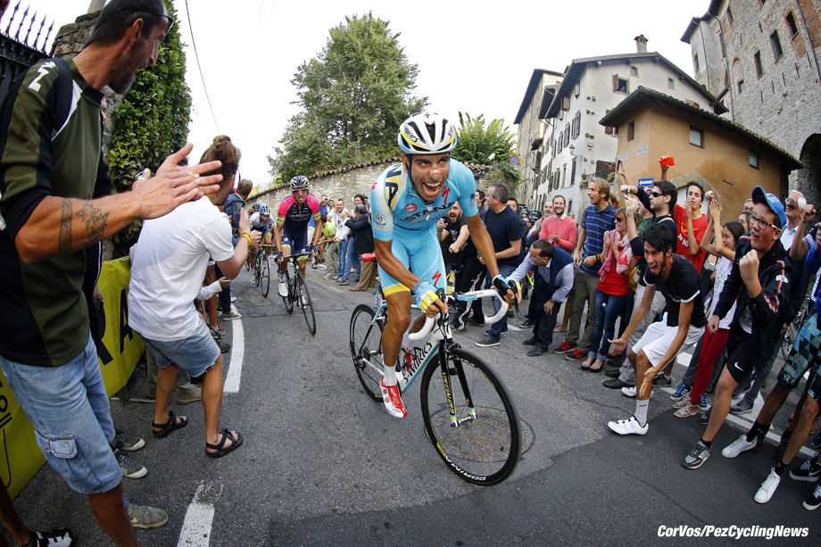 Bergamo - Italy - wielrennen - cycling - radsport - cyclisme - Fabio Aru (Italy / Team Astana) pictured during Il Lombardia 2014 - Giro di Lombardia - photo LB/RB/ Cor Vos © 2014
