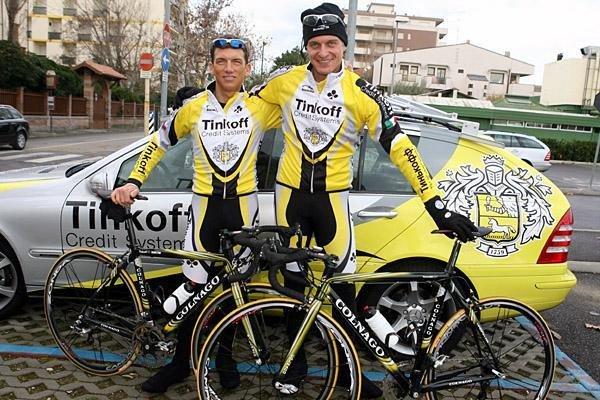 Tyler Hamilton e Oleg Tinkov