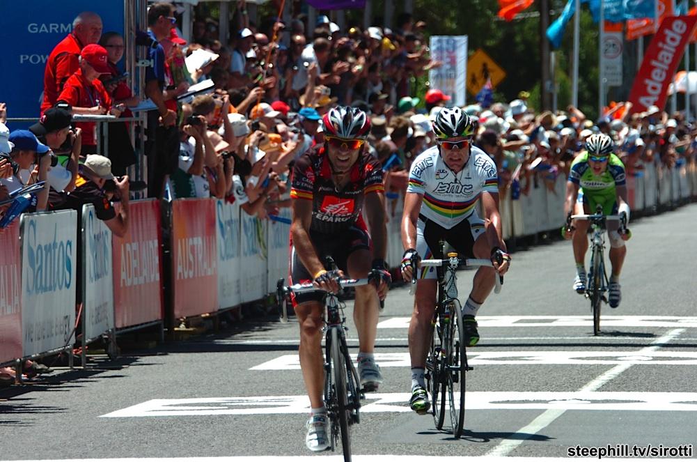 2010, Tour Down Under, tappa 05 Snapper Point - Willunga, Caisse d'Epargne, Bmc Racing, Valverde Alejandro, Evans Cadel, Willunga